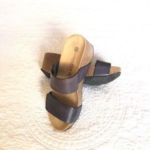 Lola Sabbia Cork Wedge Sandals